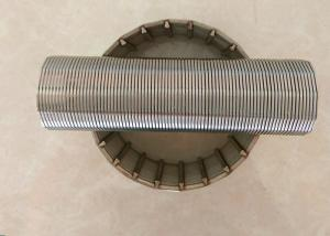 Quality Vee-Shaped Wrapped Wire Johnson Wedge Wire Screens For Water Supply Systems for sale