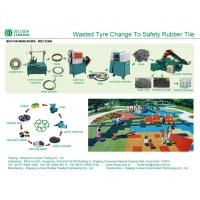 China Energy Saving Waste Tire Recycling Machine / Tyre Recycling Equipment on sale