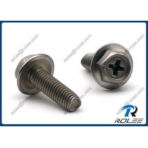 China 304/316/410 Stainless Philips Hex Washer Head Trilobular Thread Forming Screws on sale