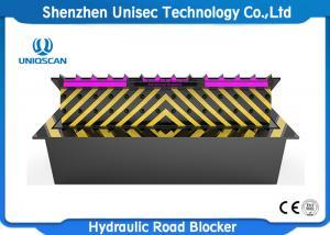 China Double Sealed Hydraulic Road Blocker LCD Display Electro Rising Road Blocker on sale