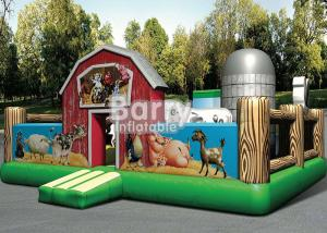 China Outdoor Playground Giant Farmyard Toddler Obstacle With Logo Printing on sale