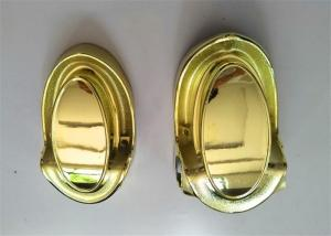 China Funeral Casket Coffin Fittings / Casket Corners Gold Color Wear Resistance on sale