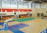 Telescopic Sport Stadium Seats Recessed Unit Platfrom With Contrasting Color End Panels