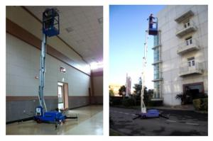 China Single Mast Aluminium Scissor Working Platform 160 kg Load 8m Working Height on sale