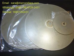 China 8 a enduit le disque plat de recouvrement de diamant de l'épaisseur de la poussière abrasive 320 1mm pour le fonctionnement en verre on sale