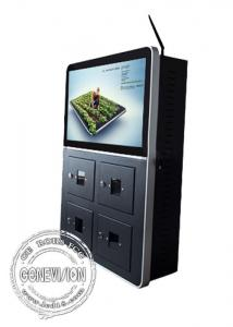 China 21.5 inch advertising digital signage player display / cell phone charging kiosk android OS on sale