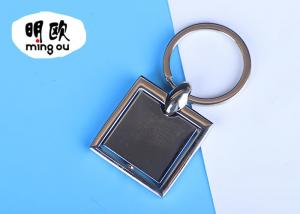China Metal Spinning Key Rings Both Sides Suit For Epoxy Doming Logo 40 * 40 * 4mm on sale