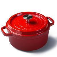 China Mini enamel cast iron cookware round pot Diameter 10cm red/blue/green/orange color on sale