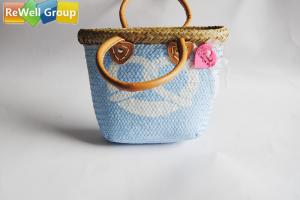 China Pure Natural Lafite Grass Woven Beach Bag Environmental Protection on sale