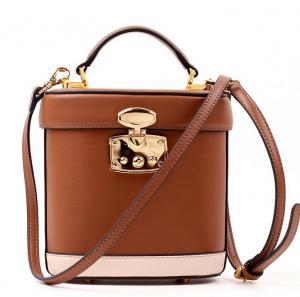 China Simple wild retro leather bucket bag leather shoulder bag diagonal female on sale