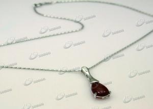 China 925 sterling silver wholesale necklace with agate pendant on sale