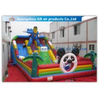 Customized Hero Man Inflatable Amusement Park Playground Funny Toy With Slide
