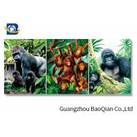 China High Definition 3D Animation Picture Chimpanzee Pattern Flipped Wall Decorative Photos on sale