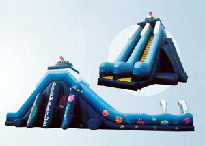 China giant ocean world inflatable slip n slide,double lane large slide with slip, inflatable slip and slide for sale on sale