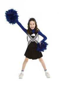 China Costume Cheer Team Metallic With Crytal Of Cheerleading Uniforms on sale