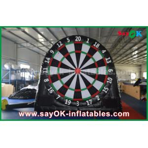 China Black Inflatable Sports Games / Customized PVC Inflatable Soccer Dart Board on sale