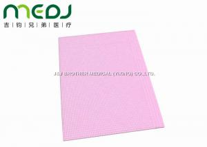 China Pink 3 Ply Dental Patient Bibs Protective Nursing Apron Waterproof 13*18 on sale