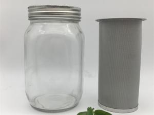 China 150 Micron Wire Mesh Filter Element For Stainless Steel Cold Brew Coffee Filter on sale