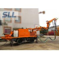 Full Automatic Concrete Shotcrete Machine With Remote Control Four Wheel Drive