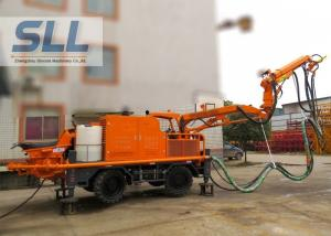 China Full Automatic Concrete Shotcrete Machine With Remote Control Four Wheel Drive on sale