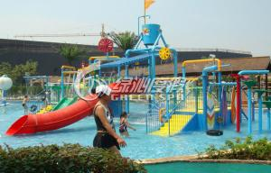 China Summer Entertainment Fiberglass Kids Water Playground Equipment with High Speed Spiral Water Slide on sale
