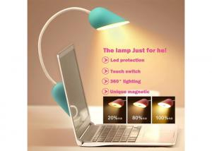 China Green Touch Control Led Battery Operated Book Light Heart For Hands Free Reading on sale