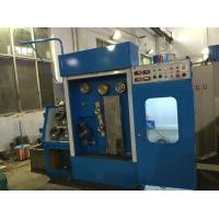 China Blue Fine Wire Drawing Machine Magnetic Brake With Annealer And Double Spoolers on sale