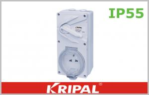 China White IP55 13A Weatherproof Switch Socket 3 Flat Electrical Outlet on sale