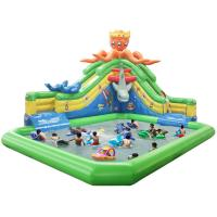 Children Water Park Inflatable Slip And Slide Water Park For Business Rental