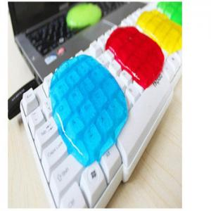 China 17.5*12cm Colorful Super Clean Slimy Gel Magic Keyboard Cleaning Compound on sale