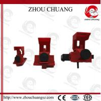 China Safety Red  Electrical Universal  Nylon Clamp On breaker Lockout on sale