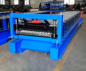 China Corrugated Steel Panel Roll Forming Machine , Steel Frame Roll Former 12-18m/Min on sale