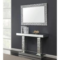 China Unique sparkly mirrored console table acrylic crystal decorative hallway table for living room on sale