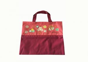 China A4 Document Eco Friendly Reusable Grocery Bags 600D Printed Durable on sale