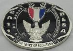 2D ou emblema de 3D BSA, a lembrança liga de zinco Badges com chapeamento de prata, veludo no verso
