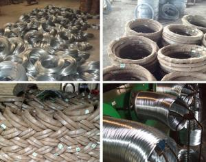 China Hot dipped galvanized iron wire, 3kgs - 500kgs per roll, 50-280g  hot dipped galvanized on sale