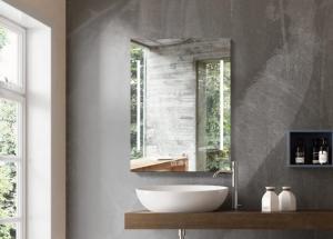 China Rectangle LED Illuminated Bathroom Mirror Sensor Demister Color Change on sale