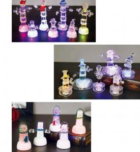 China Snow Shape Color Changing Led Night Light , Acrylic Led Snowman For Outdoor Decorative on sale