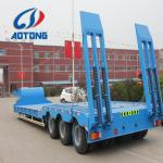 3 axle 13 meters Low bed trailer for 80 ton machinery transportations