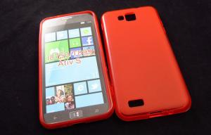 China Orange Silicon TPU Phone Case Android Accessories For Samsung ATIV S i8750 on sale