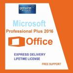 English Language Microsoft Office 2016 Professional Plus Retail Box PKC FPP Original Key