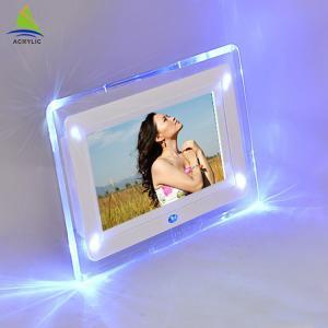 China Shop Mini Acrylic Led Frame Acrylic Fashion Design Led Light Photo Frame on sale