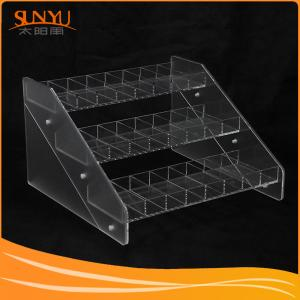 China Sunyu Acrylic Display Factory Customized Clear 3 Tier Acrylic Display on sale