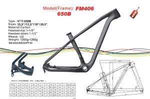 "Quality 27.5 ( 650b ) Stiff Carbon Mountain Bike Frame 15.5"" 17.5"" 19"" 20.5"" FM406 for sale"