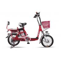 Lady , Students Lithium Bicycle Small Electric Bikes With Removable Battery Box