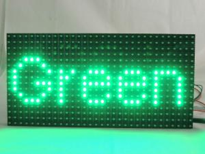 China 0.65kg IP65 Dip LED Screen Modules One Color Green 120 Viewing Angle on sale