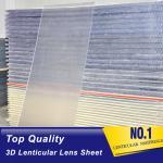 PLASTICLENTICULAR large format standard lenticular lenses 15 LPI flip lenticular sheets for photos 3d effect