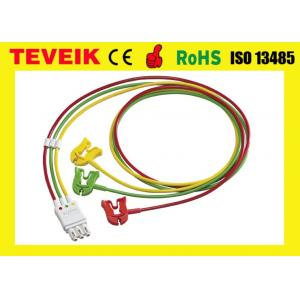 China M1672A ECG 3 lead wires , Clip , IEC for patient monitor on sale