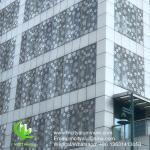 China PVDF Metal aluminum perforated standard  panel used for building exterior