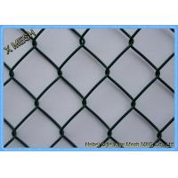 Easily Install Chain Link Fence FabricGreen Color PVC Coated Materials